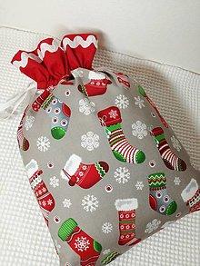 Úžitkový textil - Mikulášske vrecko - 11216396_