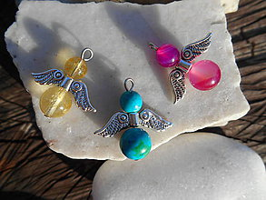 Iné šperky - angels achát,citrín,chryzokol - 11216539_