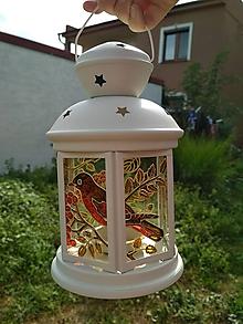 Dekorácie - Maľovaný lampáš jesen :) - 11216147_