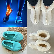 Obuv - Hrejivé papuče VLNIENKA  na bolesť nôh suché teplo prírodná liečba - 11215969_