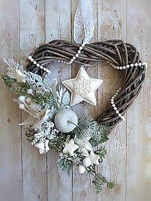 Dekorácie - Vianočné srdce - 11215808_