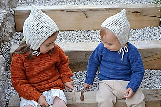 Detské oblečenie - Detský pulóver biovlna/biobavlna 6 - 18 m - 11214038_