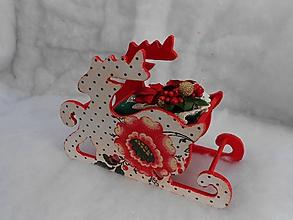 Dekorácie - Vianočné sane sob - 11214876_