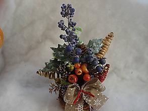 Dekorácie - Vianočná ikebana - 11215027_