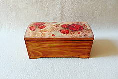 Krabičky - Drevená truhlička Červené ruže - 11216222_
