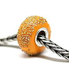 Náramky - Oranžová pumpkin pandora /ch-248 - 11215853_