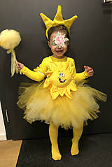 Detské oblečenie - Nadýchaná žltá tylová suknička - 11215099_
