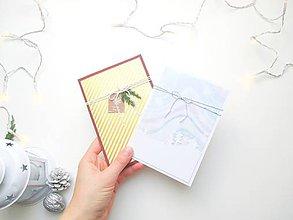 Papiernictvo - AKCIA! zľavnené Sviatočné pohľadnice - sada 2 ks ❄️ (Vianočná sada 2) - 11215507_