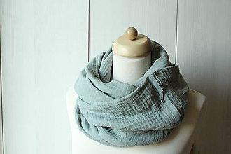 Šatky - Bavlnená šatka so zipsom - 11215047_