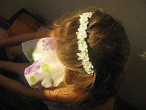 Ozdoby do vlasov - Čelenka biela - 11215262_