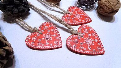 Dekorácie - Vianočné ozdoby - srdiečko - 11216126_