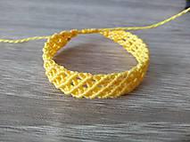Náramky - Makramé náramok žltý - 11214324_