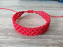 Náramky - Makramé náramok červený - 11214336_