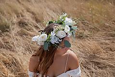 """Ozdoby do vlasov - Kvetinový boho venček """"tak krásne ráno"""" - 11216089_"""