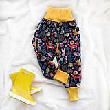 Detské oblečenie - Zimné softshellové nohavice zvieratká - 11216614_