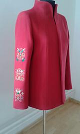 Kabáty - Červené sako trochu inak - 11214330_