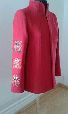 Kabáty - Červené sako trochu inak (Červená) - 11214330_