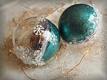 Dekorácie - ĽADOVÉ vianočné gule s 3D fotkou - 11214684_