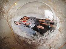 Dekorácie - LEVANDULOVÉ vianočné gule s 3D fotkou - 11214699_