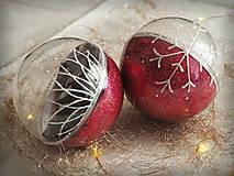 Dekorácie - MALINOVÉ vianočné gule s 3D fotkou - 11214731_