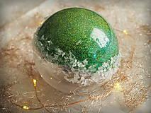 - ZELENÉ vianočné gule s 3D fotkou - 11214751_