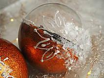 Dekorácie - POMARANČOVÉ vianočné gule s 3D fotkou - 11214770_