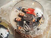 Dekorácie - POMARANČOVÉ vianočné gule s 3D fotkou - 11214773_
