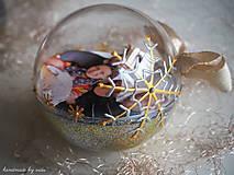 Dekorácie - POMARANČOVÉ vianočné gule s 3D fotkou - 11214785_
