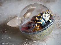 Dekorácie - POMARANČOVÉ vianočné gule s 3D fotkou - 11214786_