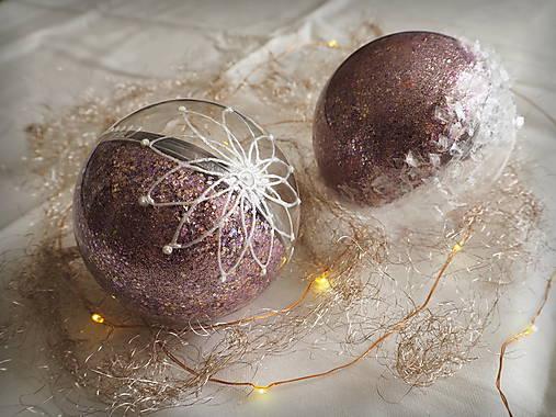 LEVANDULOVÉ vianočné gule s 3D fotkou
