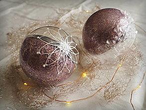 Dekorácie - LEVANDULOVÉ vianočné gule s 3D fotkou - 11214697_