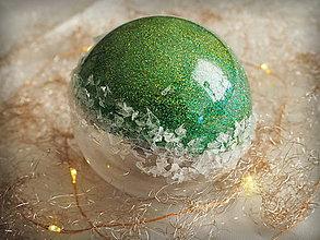 Dekorácie - ZELENÉ vianočné gule s 3D fotkou - 11214751_