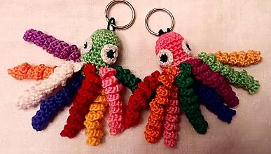 Kľúčenky - Farebné chobotničky - 11216440_