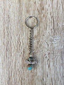 Kľúčenky - kľúčenka anjel, prívesok na kľúče (Tyrkysová) - 11215807_