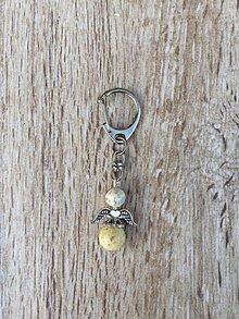Kľúčenky - kľúčenka anjel, prívesok na kľúče (Žltá) - 11215851_