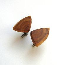 Šperky - Drevené manžetové gombíky - jabloňové kúsky - 11215610_