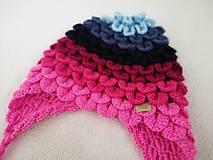 Detské čiapky - Farebné pásikavé ušianky pre sestričky - 11214264_