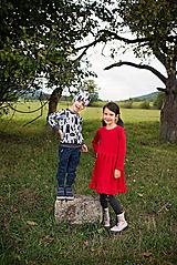 Detské oblečenie - Červené šaty - 11218987_