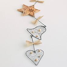 Dekorácie - vianočná dekorácia s hviezdou 40cm - 11217597_