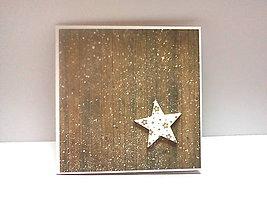 Papiernictvo - Pohľadnica ... vianočná hviezdička I - 11218766_