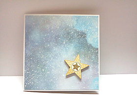 Papiernictvo - Pohľadnica ... vianočná hviezdička II - 11218801_
