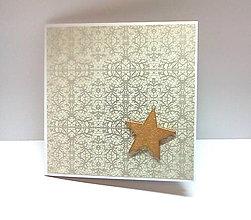 Papiernictvo - Pohľadnica ... vianočná hviezdička III - 11218817_