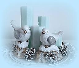 Svietidlá a sviečky - Adventné sviečky - 11218323_