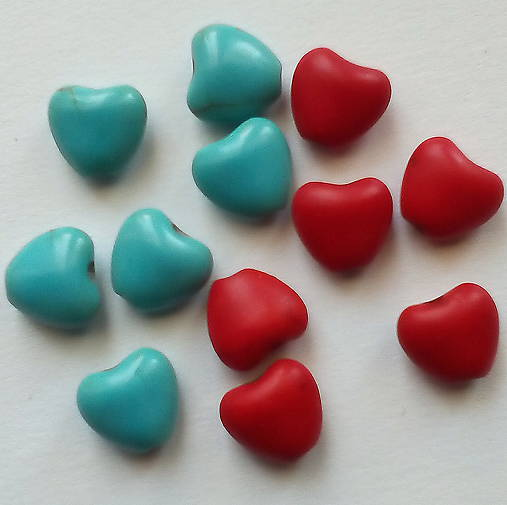 Prír.kameň-howlit-srdce 8mm-1ks
