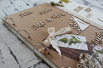 "Papiernictvo - Svadobný fotoalbum ""greenery"" - 11218932_"