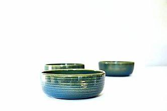 Nádoby - Dezertná miska modro-zelená - 11217819_