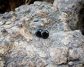 Náušnice - Čierne kruhové napichovačky - 11218538_
