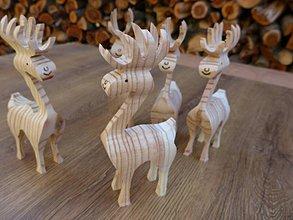 Dekorácie - Drevený sob (vianočná dekorácia, hračka) - 11217545_
