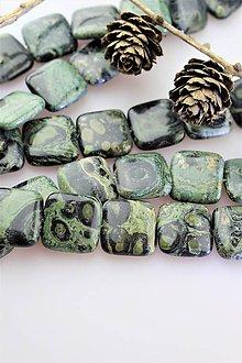 Minerály - jaspis korálky 20mm - štvorčeky - 11217047_