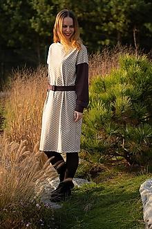 Šaty - ZĽAVA Šaty bodkované v retro strihu - 11216983_